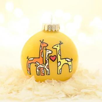 Baby's First Christmas Giraffes Ornament